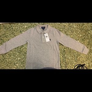 ✨Brand new🌟 Gray long sleeve Polo